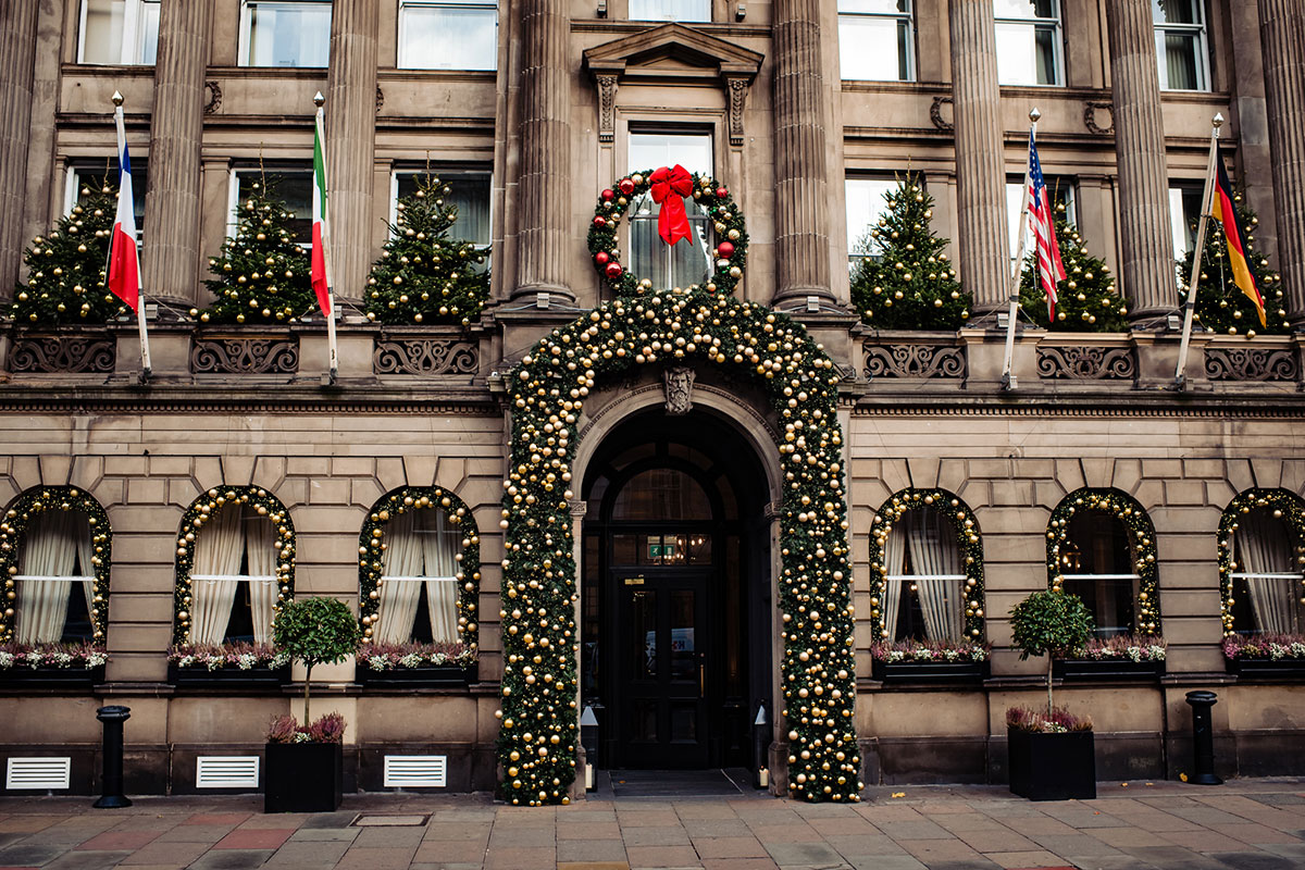 exterior-shot-of-the-george-with-christmas-decorations