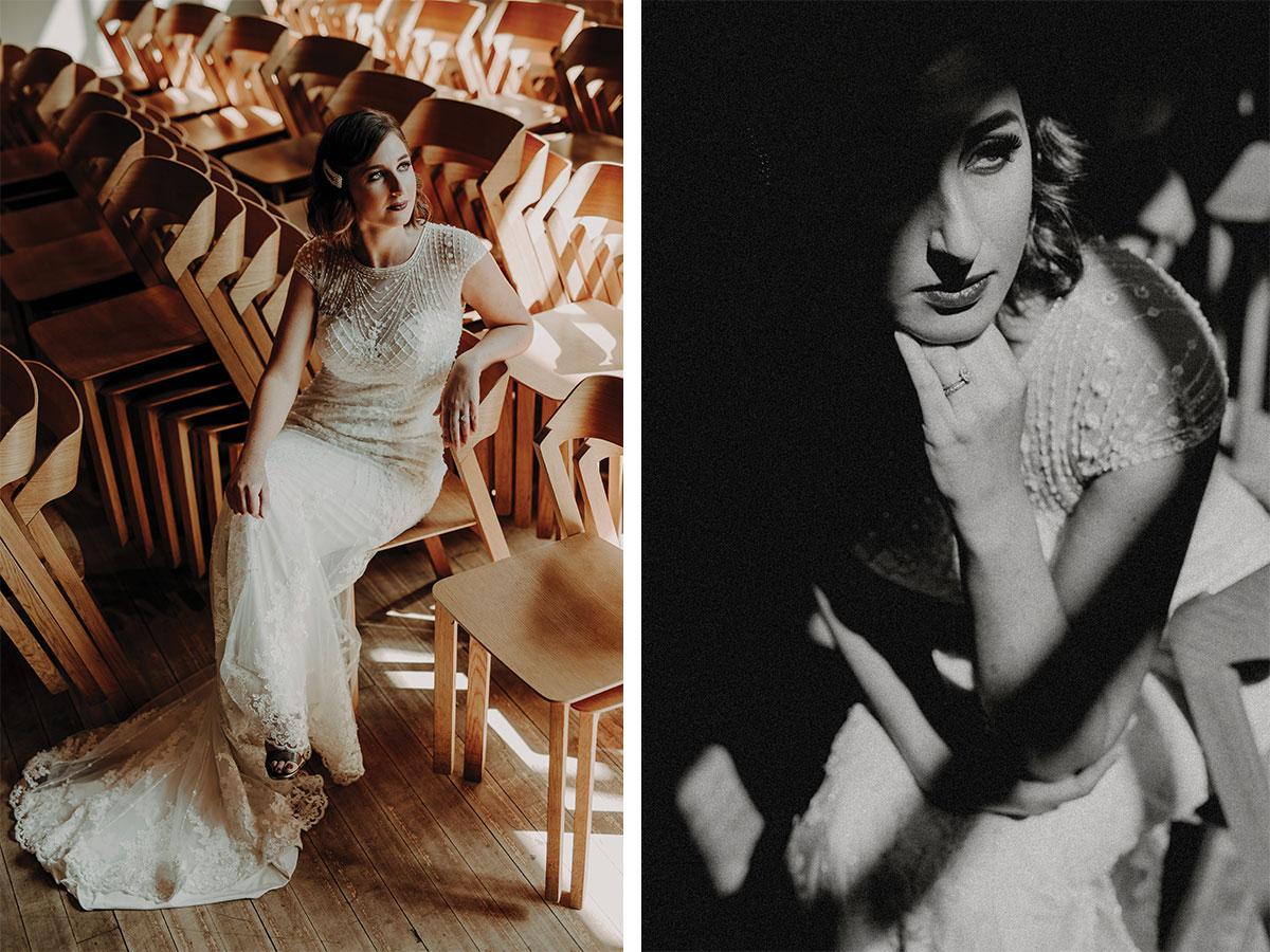 brunette-bride-in-black-and-white-retro-shot