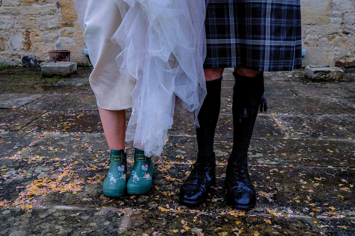 closeup-of-highlandwear-brogues-and-brides-wellies