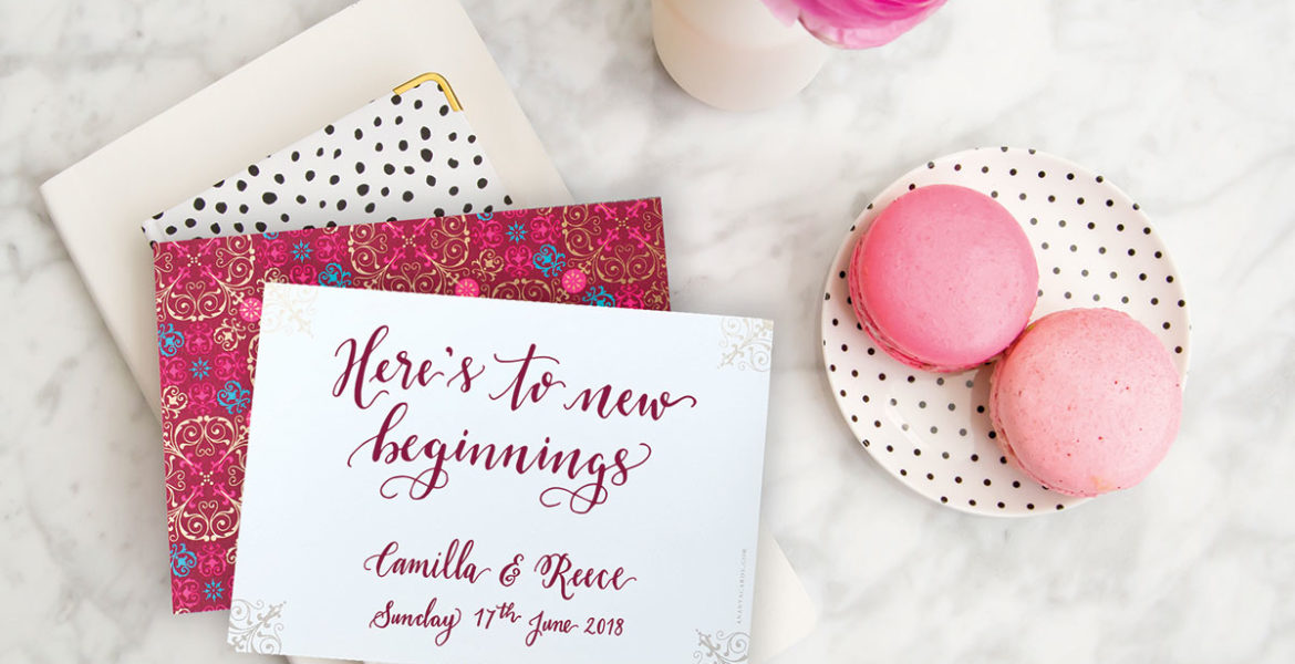 spotty-wedding-invite-with-patterned-envelope