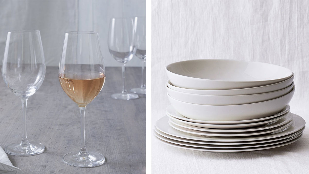 white-company-glasses-and-dinnerware