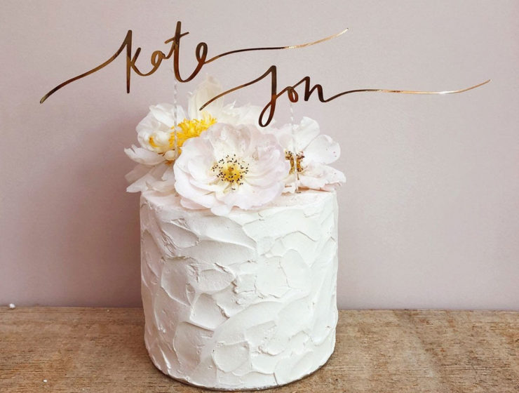 personalised wedding cake topper from etsy