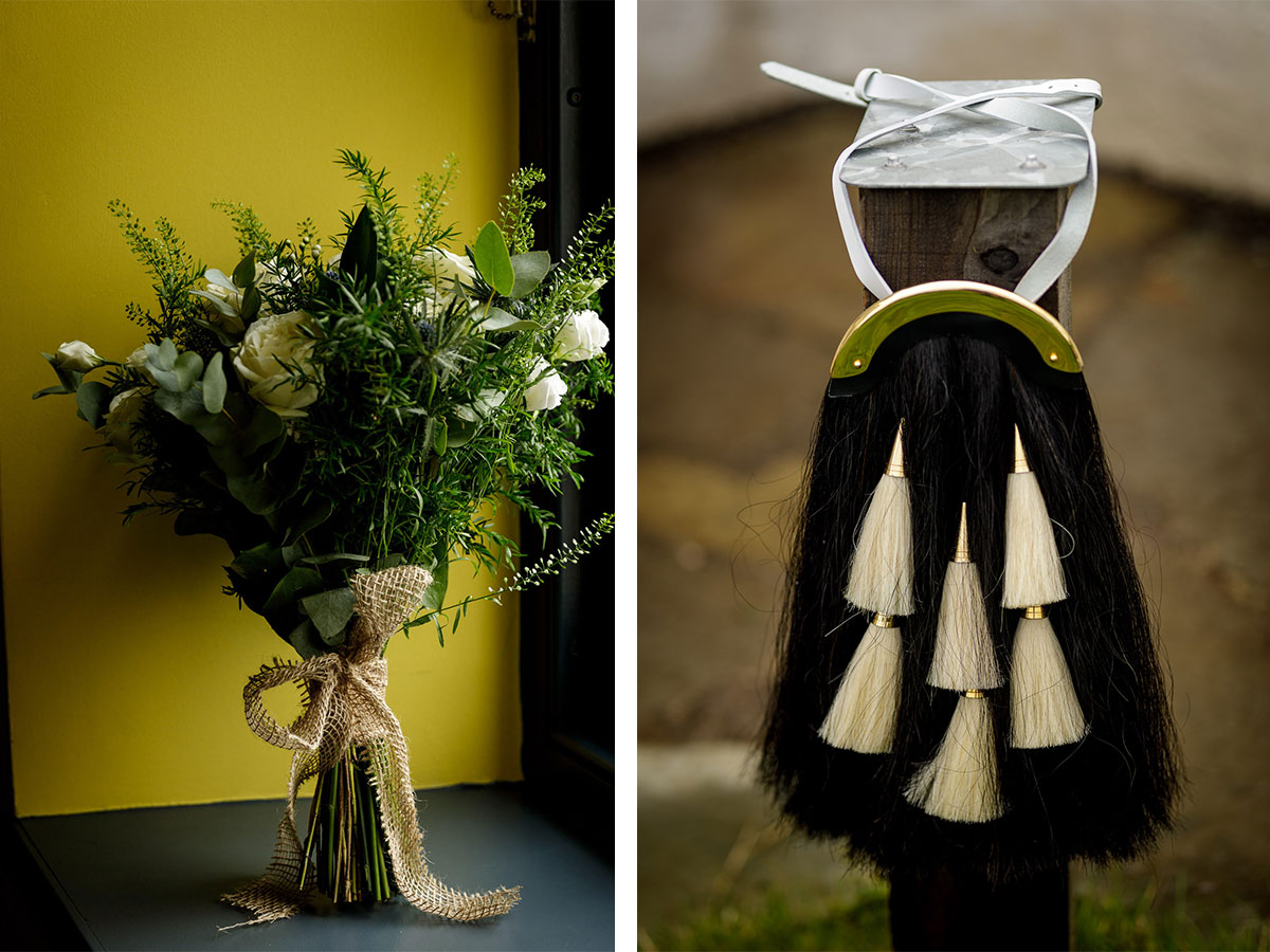 bridal-bouquet-and-sporran