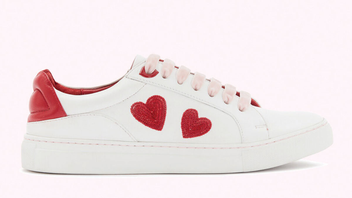 Lulu-Guinness-RED-SEQUIN-HEARTS-LEATHER-NATASHA-TRAINERS-£145