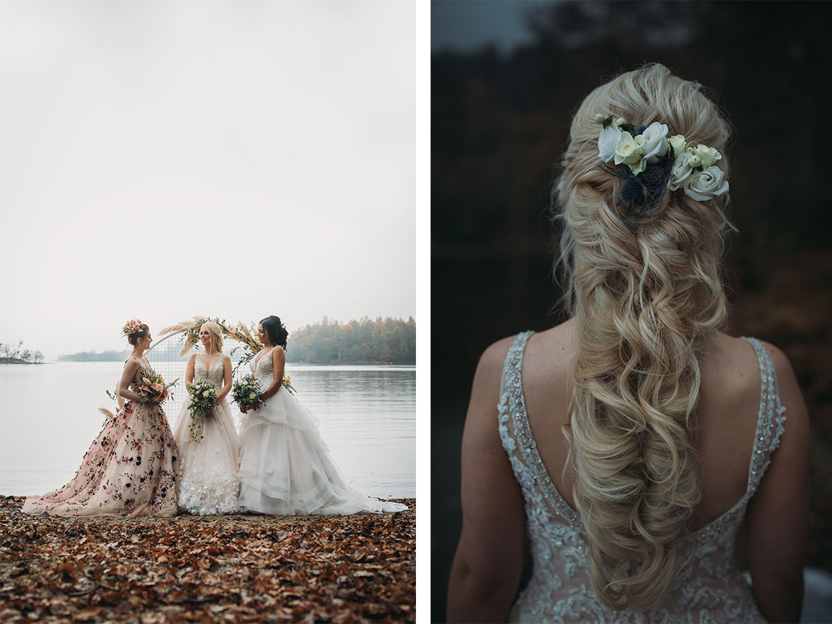 three-brides-in-front-of-a-loch