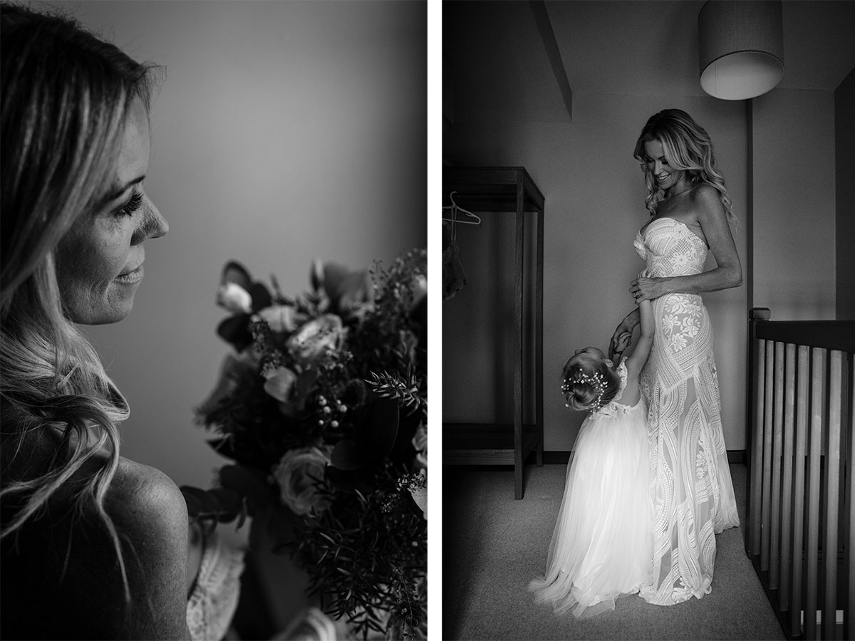 bride-and-flowergirl-in-black-and-white