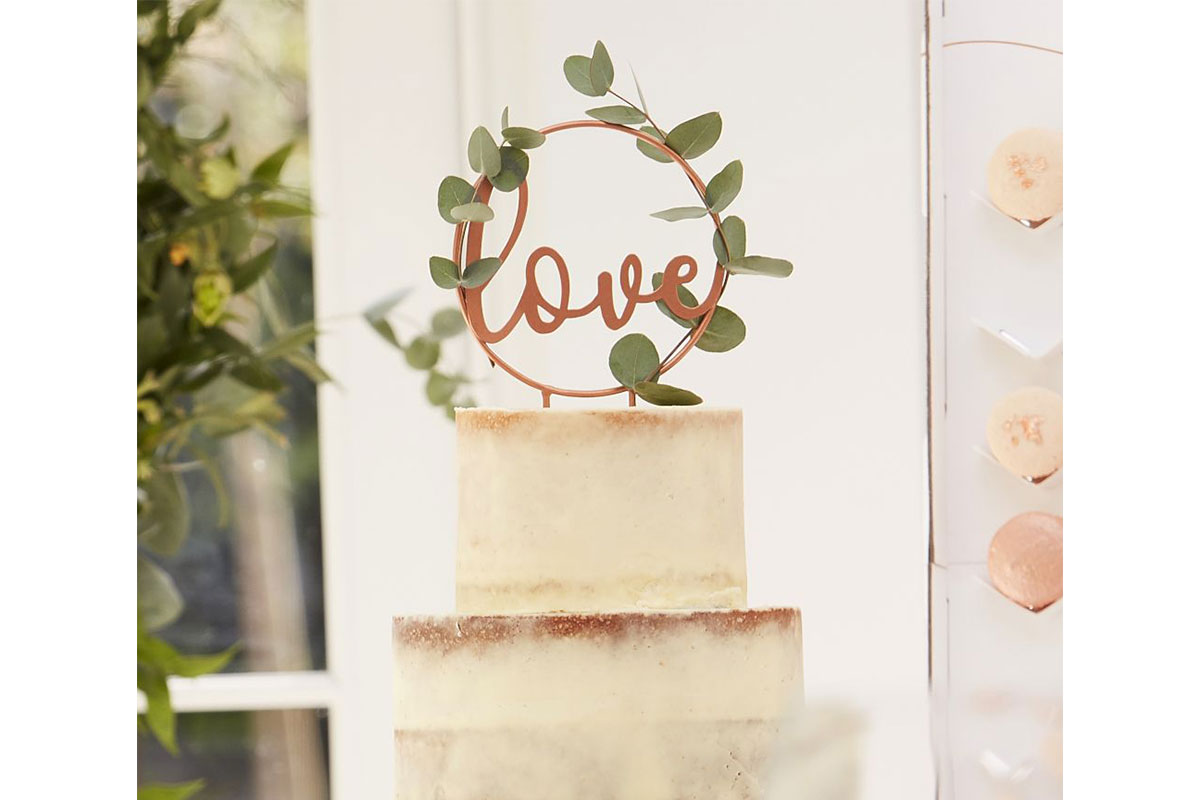 paperchase love cake topper
