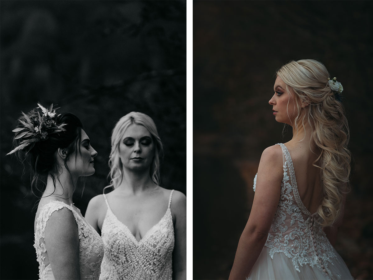 brides-in-lace-dresses-with-curled-hair