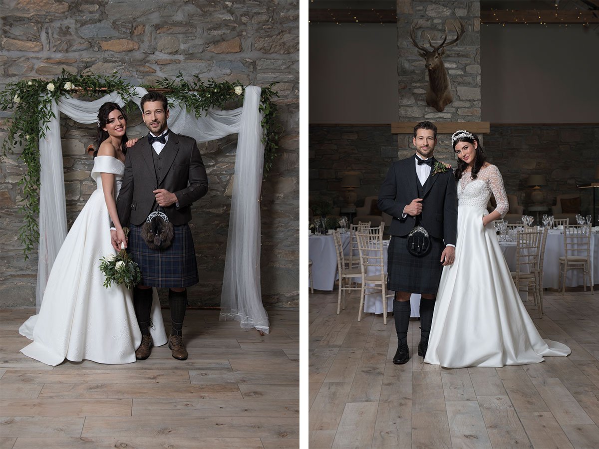 bride-and-groom-wearing-macgregor-and-macduff-kilt-outfit