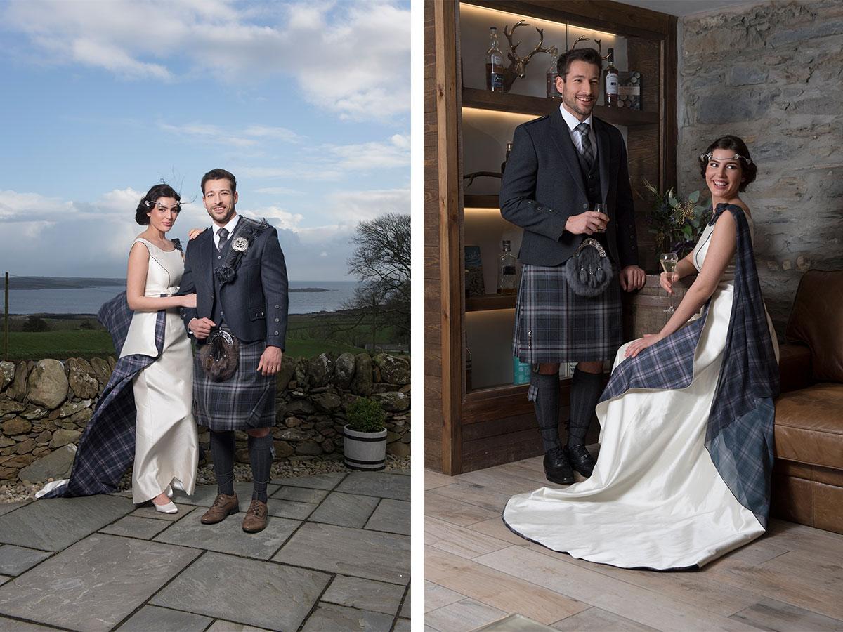 macgregor-and-macduff-kilt-outfit-and-joyce-young-tartan-wedding-dress