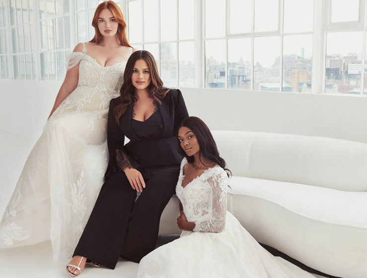 Model Ashley Graham with her designs