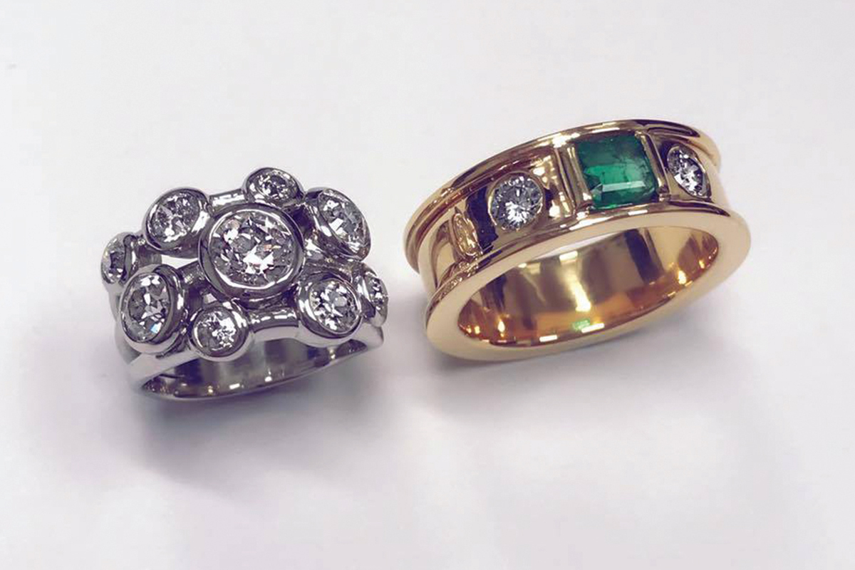 jamesbrown_diamond-and-emerald-rings