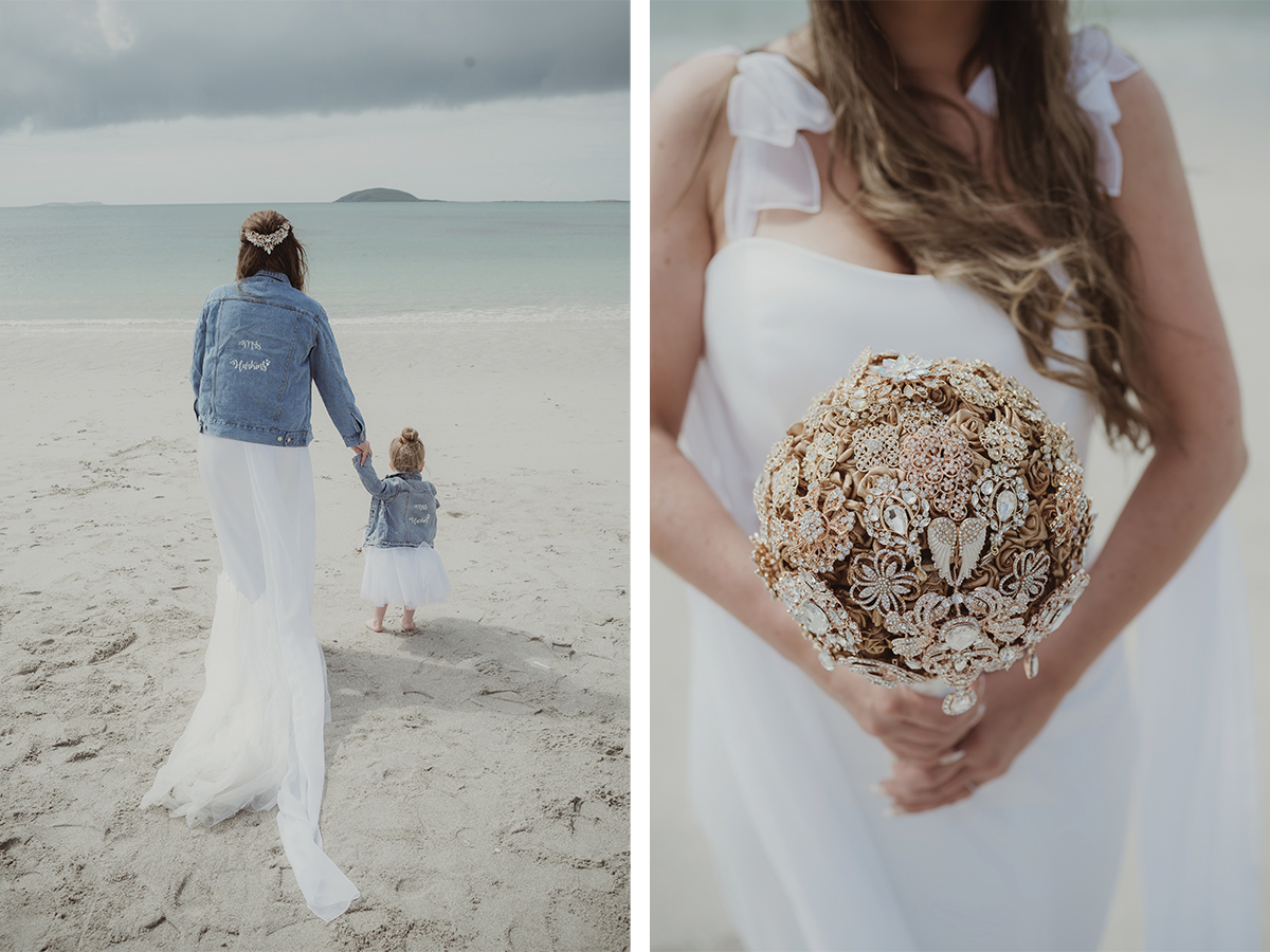 bride-and-flowergirl-in-matchin-denim-jackets