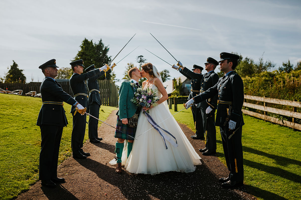 guard-of-honour-for-the-couple
