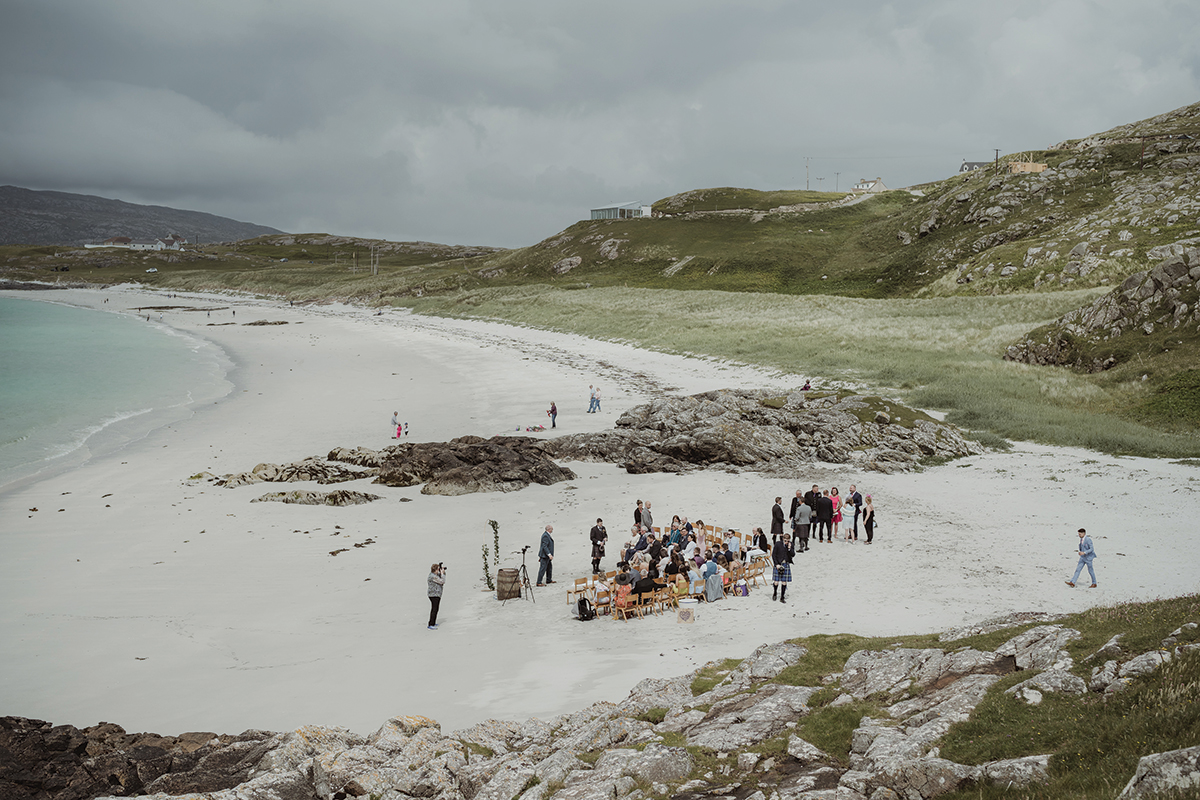 aerial-shot-of-the-beach-before-the-ceremony
