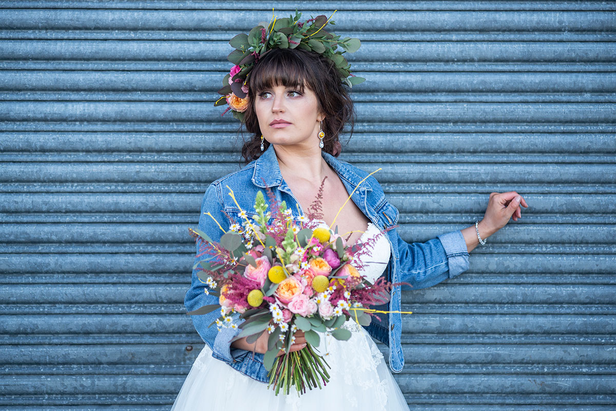 boho-bridal-model-with-jacket-and-floral-crown