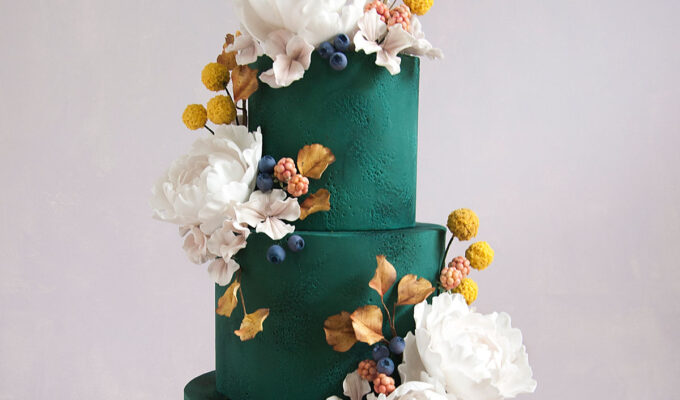 green autumn cake