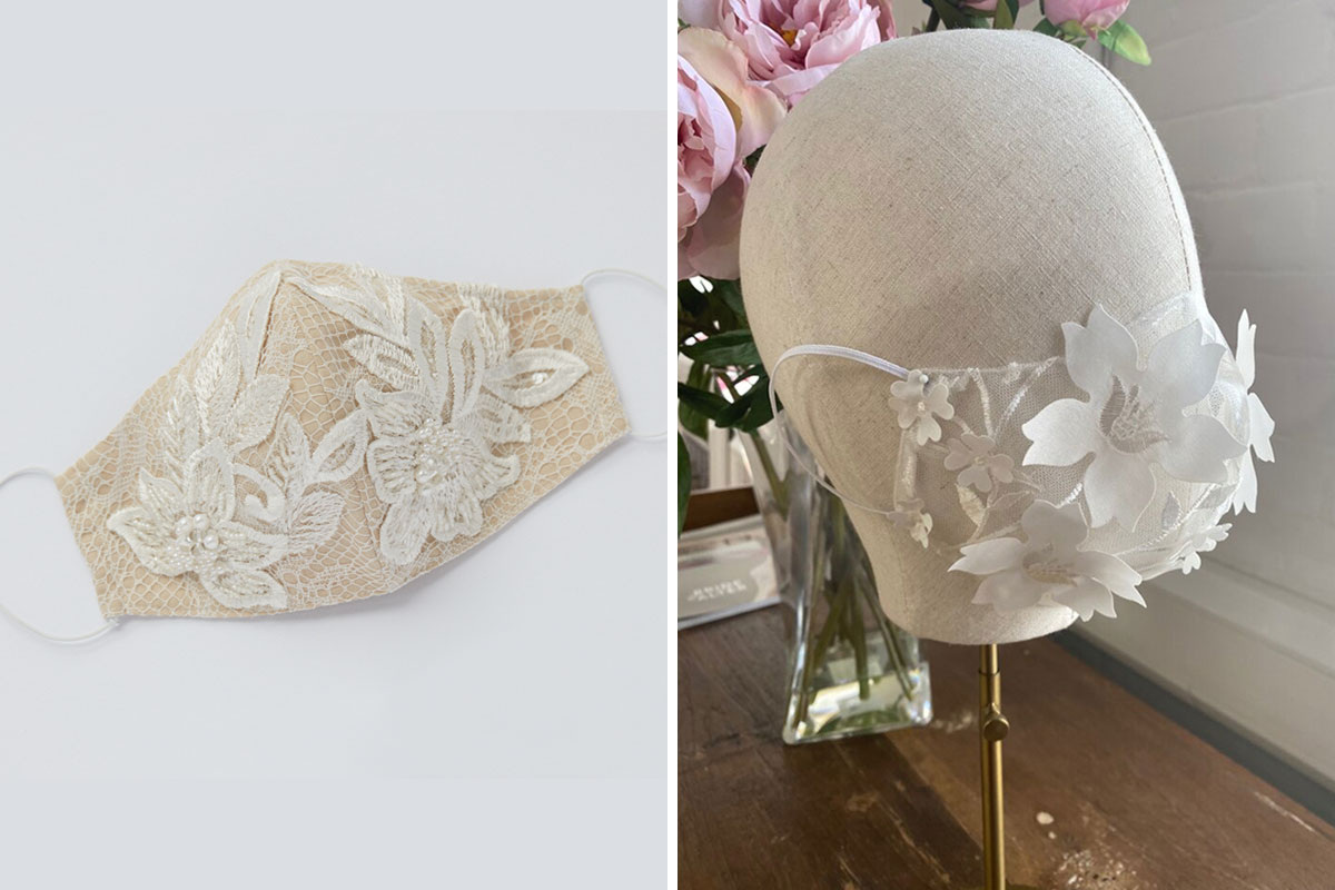two floral face masks