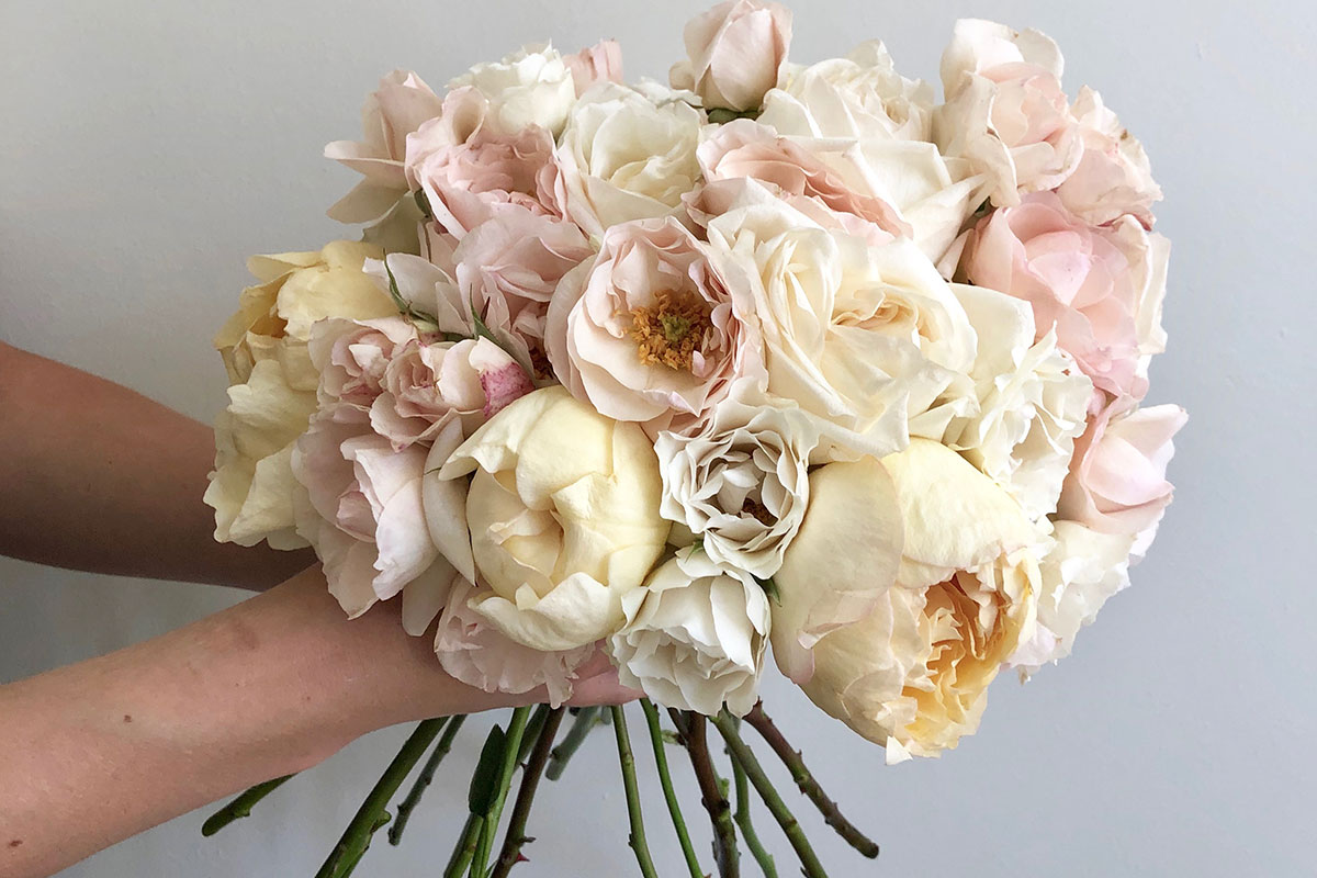 Lavender & Rose peony and rose bouquet