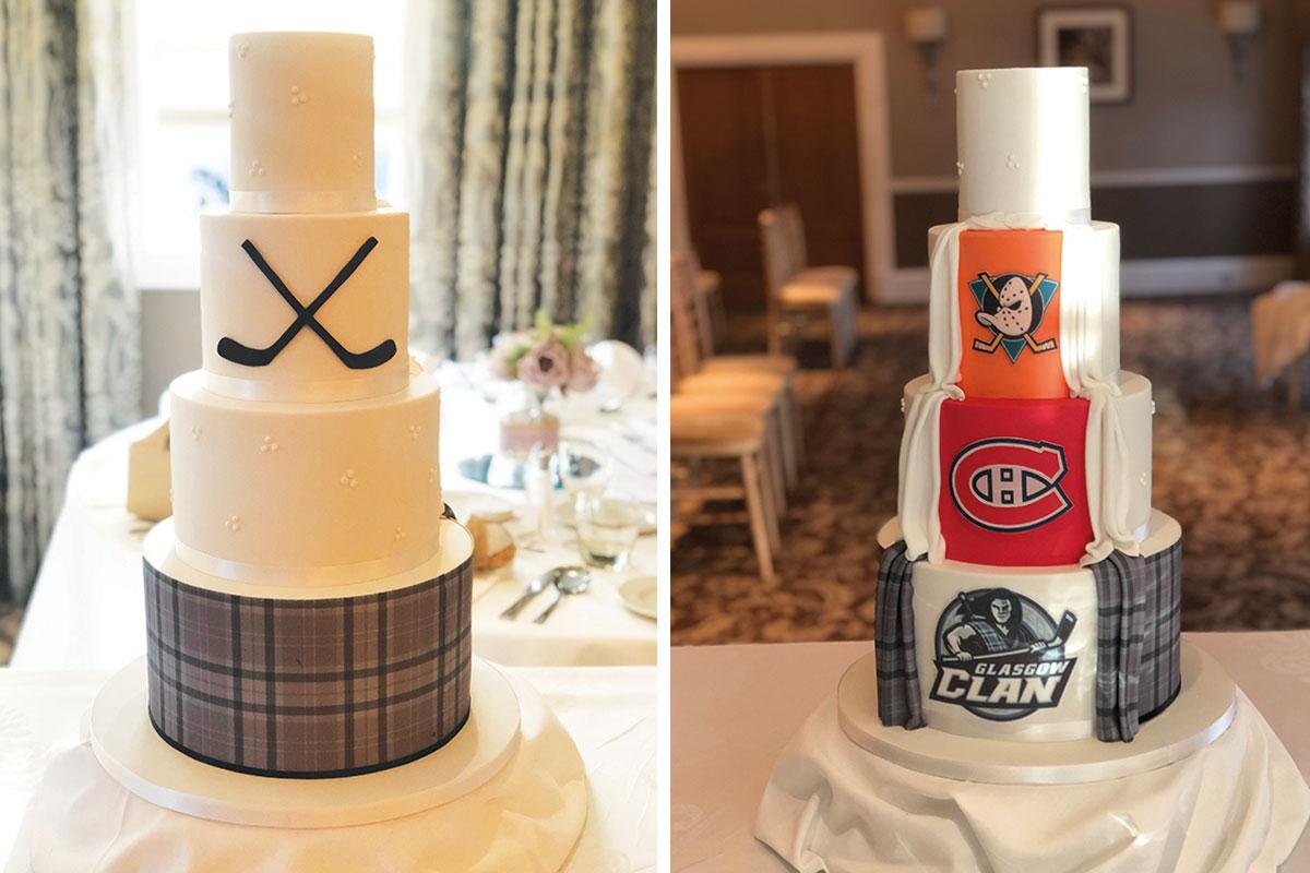 ice hockey wedding cake
