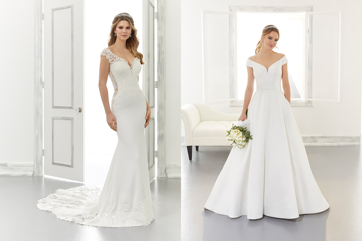 Anya and Ainsley gowns by Morilee