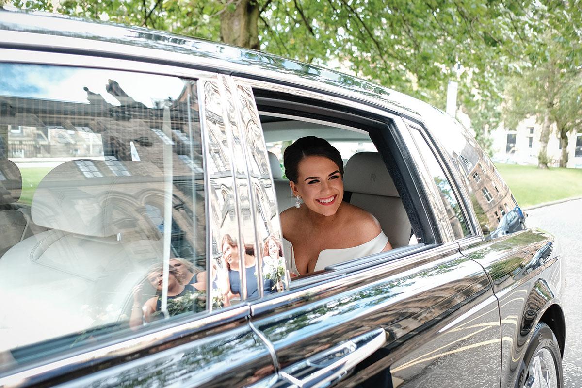bride-arriving-in-wedding-car