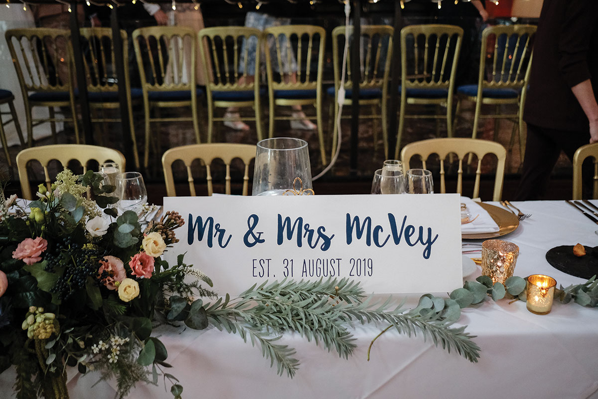 wedding-reception-table-set-up-with-mr-and-mrs-sign-at-oran-mor