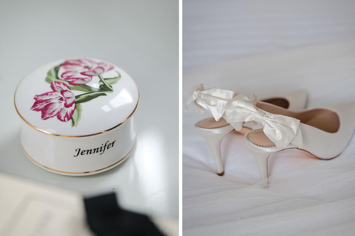 personalised-ceramic-wedding-trinket-dish-and-bridal-shoes