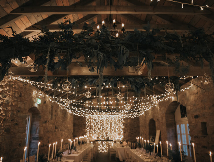Fairylit reception decor by Get Knotted