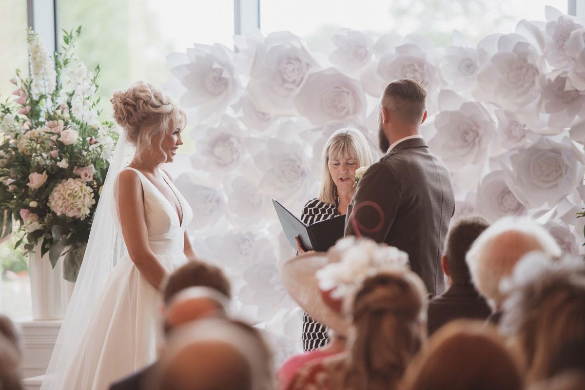 Aboyne Photographics Meldrum House Aberdeen wedding venue ceremony