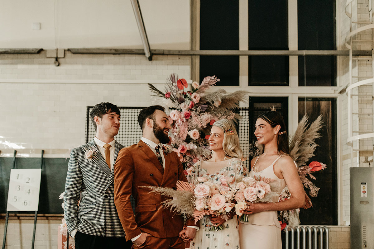 Anatomy Rooms Aberdeen wedding Emma Lawson Photography dresses by Ivory Grace Bridal