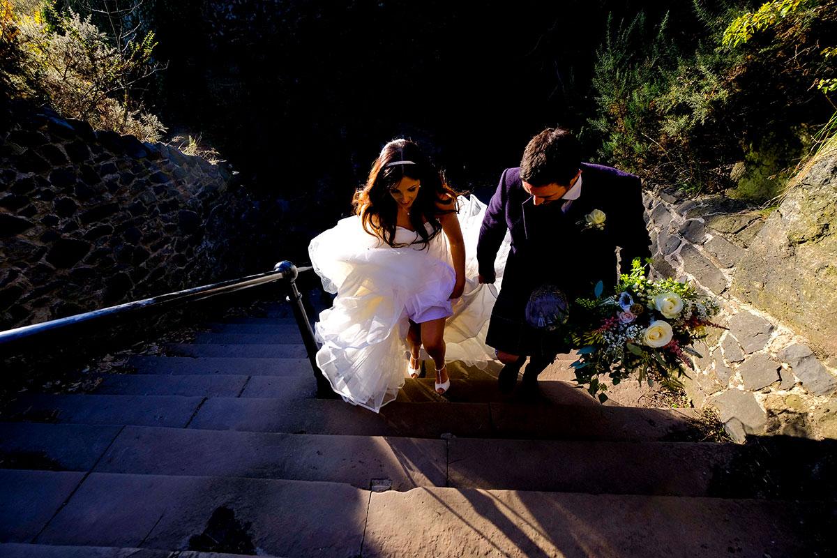 bride-groom-climbing-steps