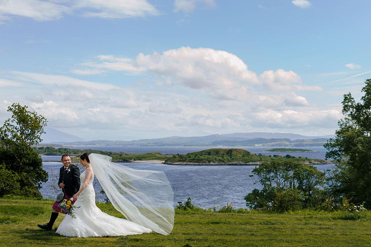 Isle-of-Lismore-Wedding-Photography-Barry-Robb-bride-groom-walking