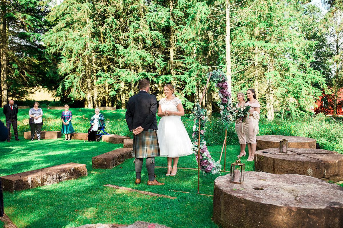 Hemera Visuals Dalswinton wedding outdoor ceremony