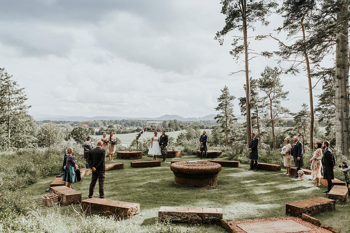 Hemera Visuals Dalswinton wedding outdoor ceremony space
