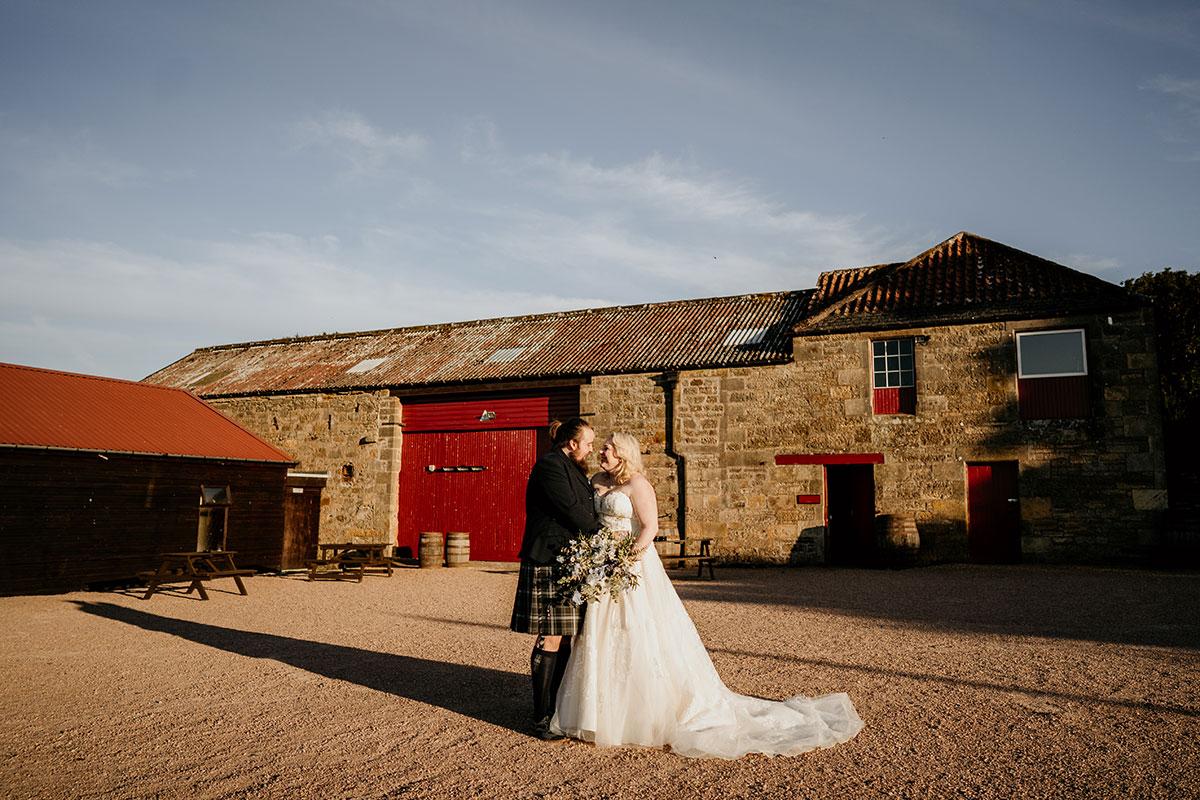bride-groom-outside-kinkell-byre-victoria-photography