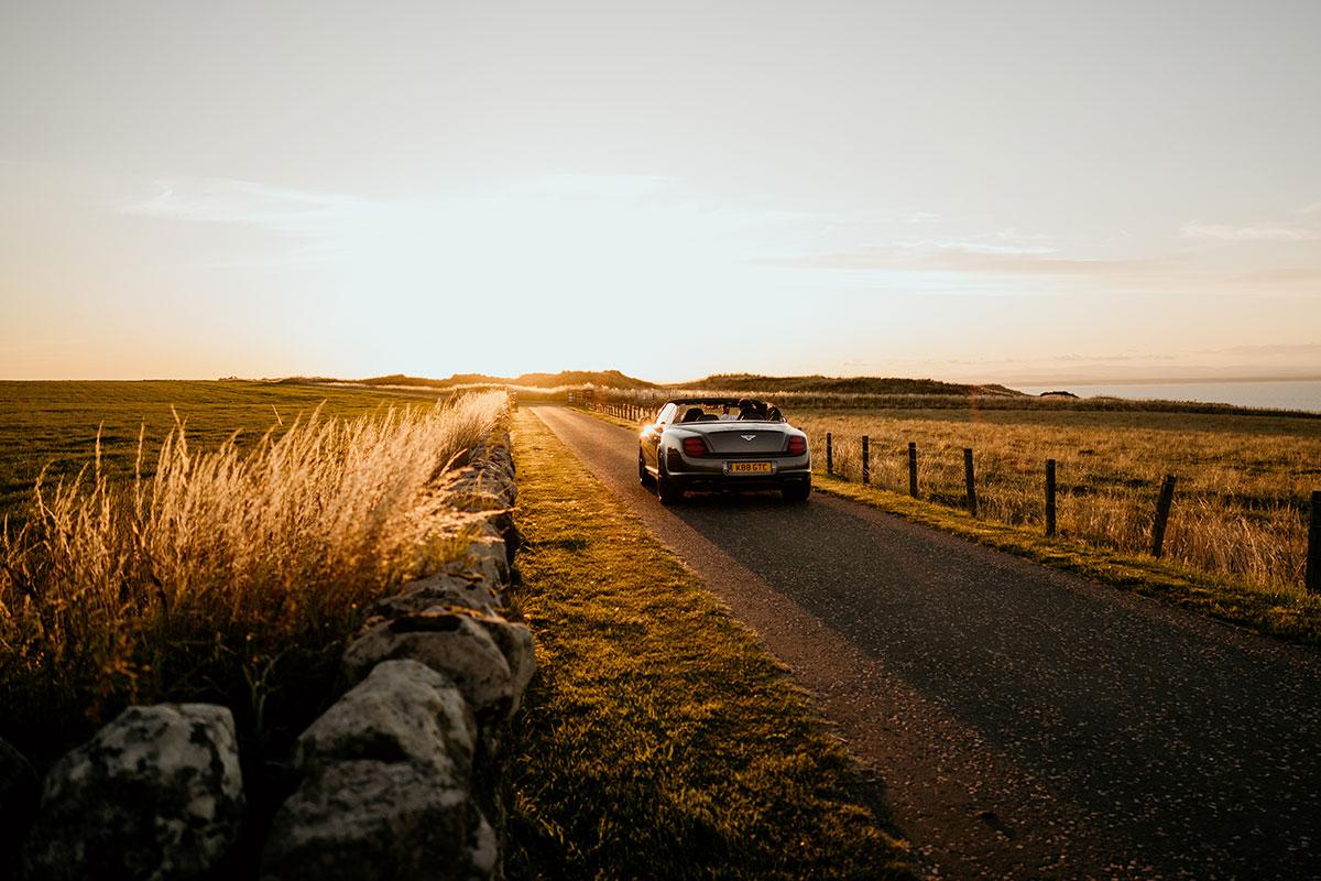 wedding-car-convertible-bentley-sunset-victoria-photography