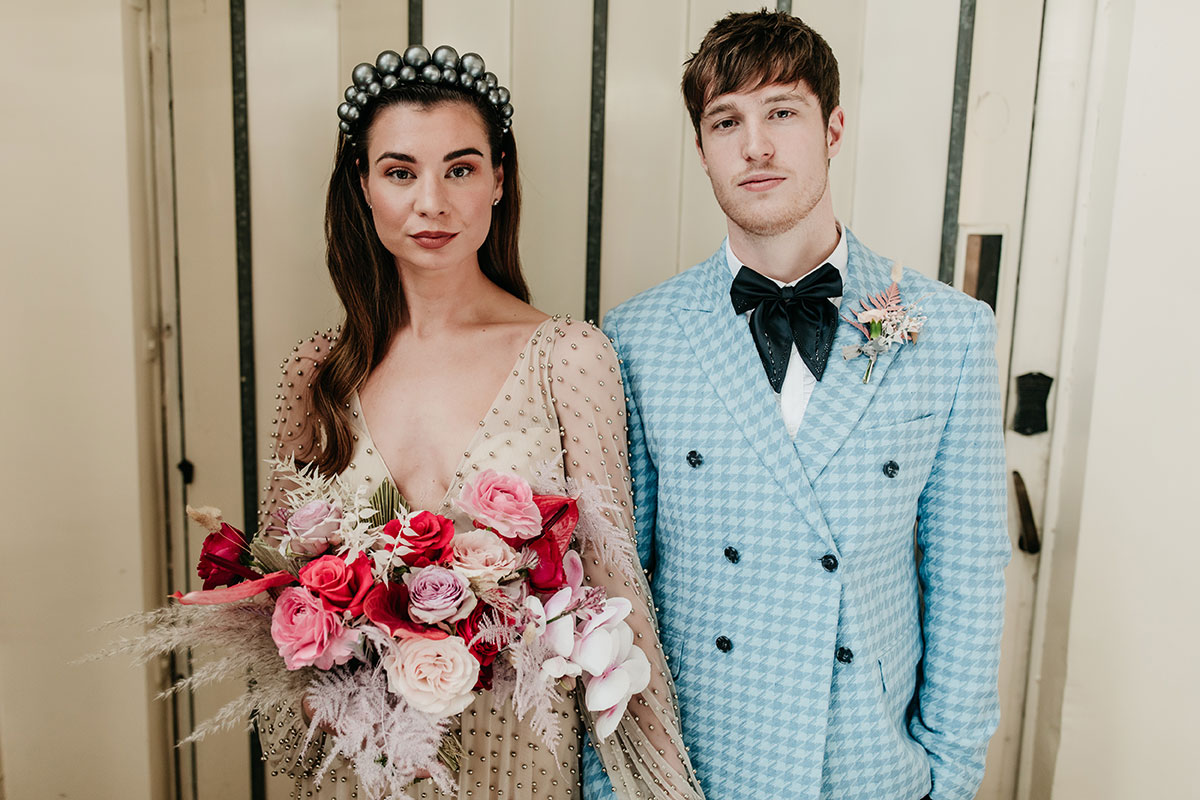 Anatomy Rooms Aberdeen wedding Emma Lawson Photography Ivory Grace Bridal dress