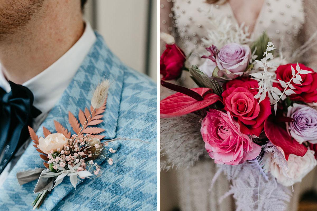 Anatomy Rooms Aberdeen wedding Emma Lawson Photography Kim Dalglish buttonhole bouquet