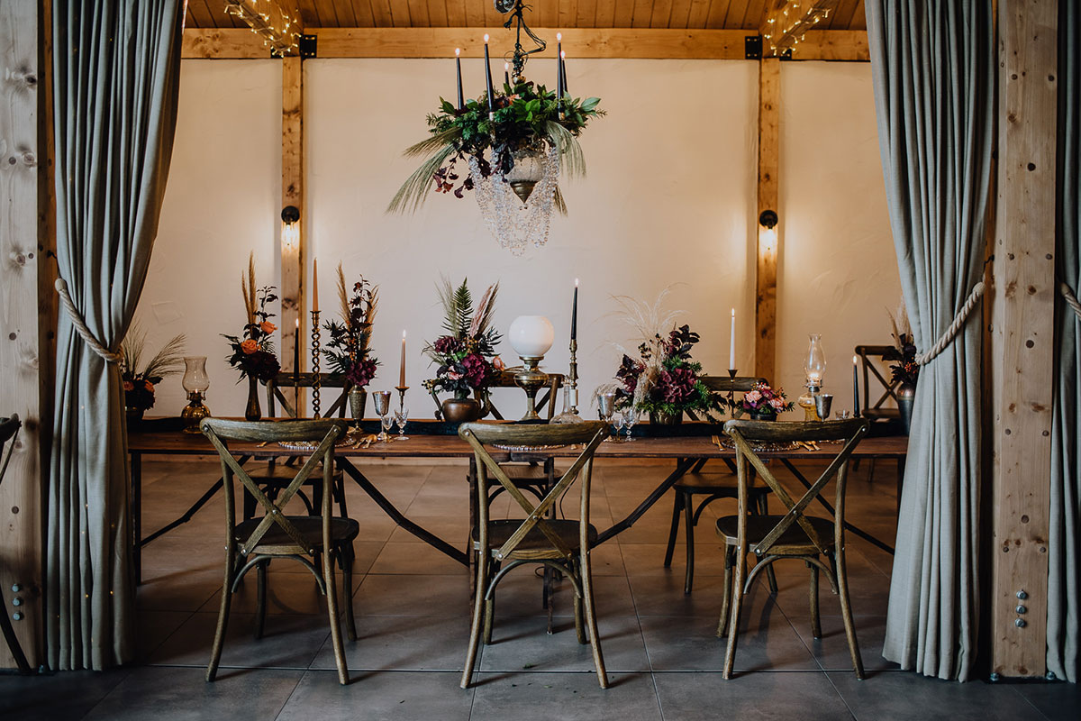 Roodlea-Barn-autumn-gothic-halloween-barn-wedding-styled-table
