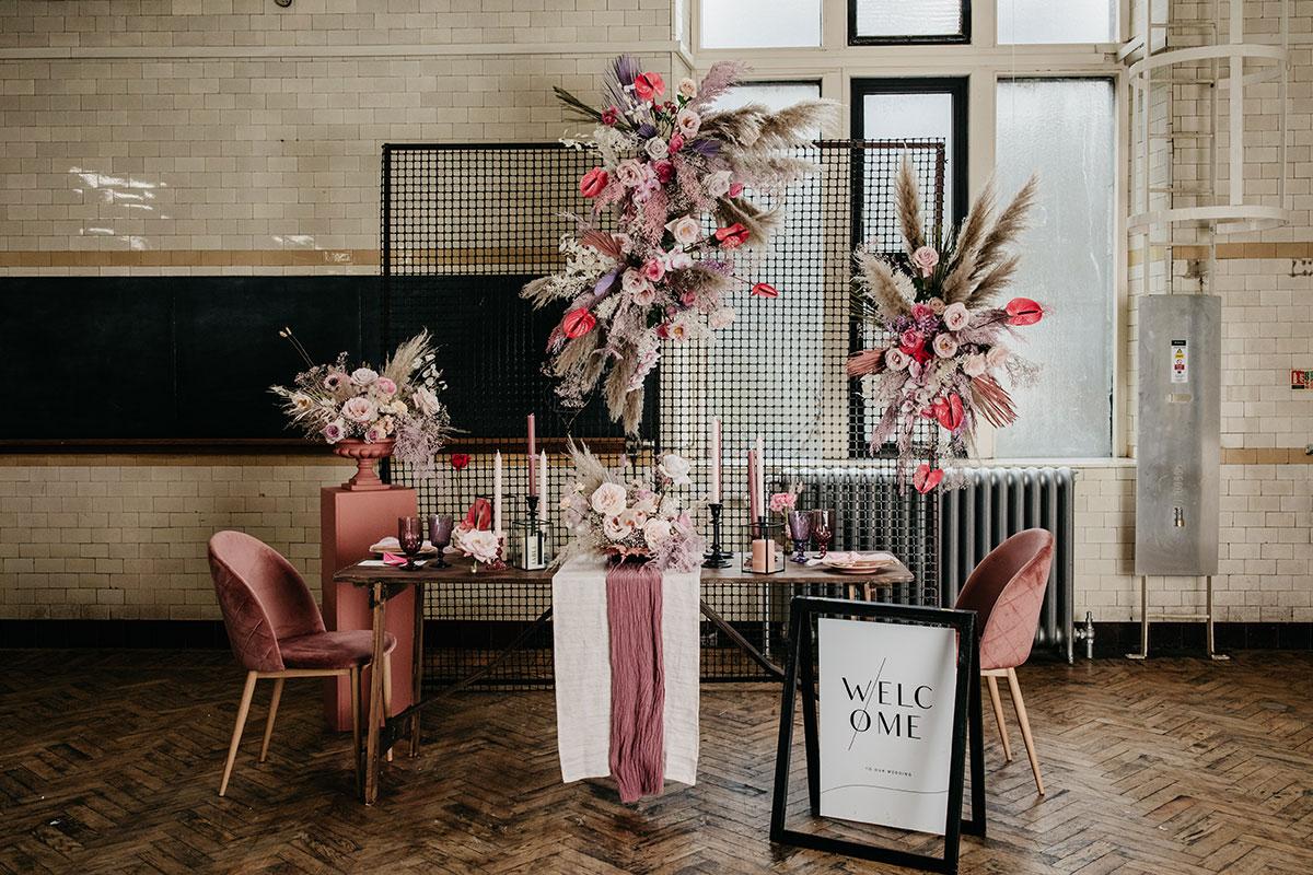 Anatomy Rooms Aberdeen wedding styled by Kim Dalgish