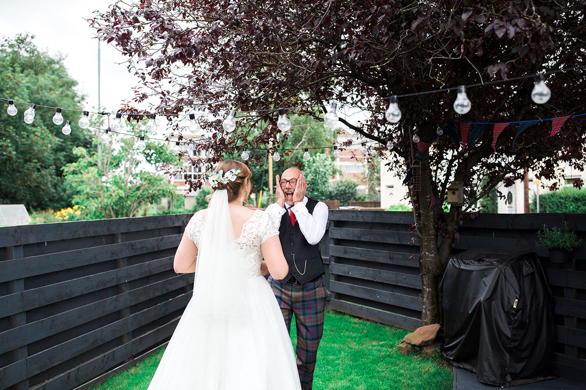 Hemera Visuals dad surprised at bride