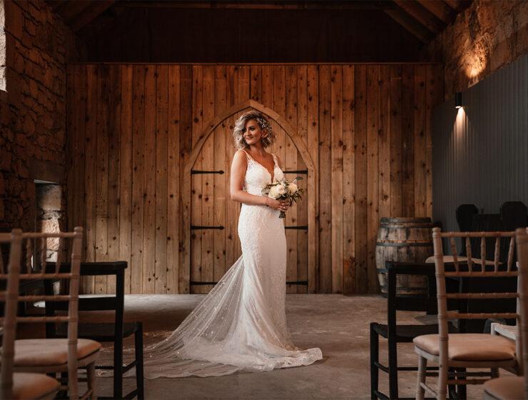 Amy King Bridal dress at The Den