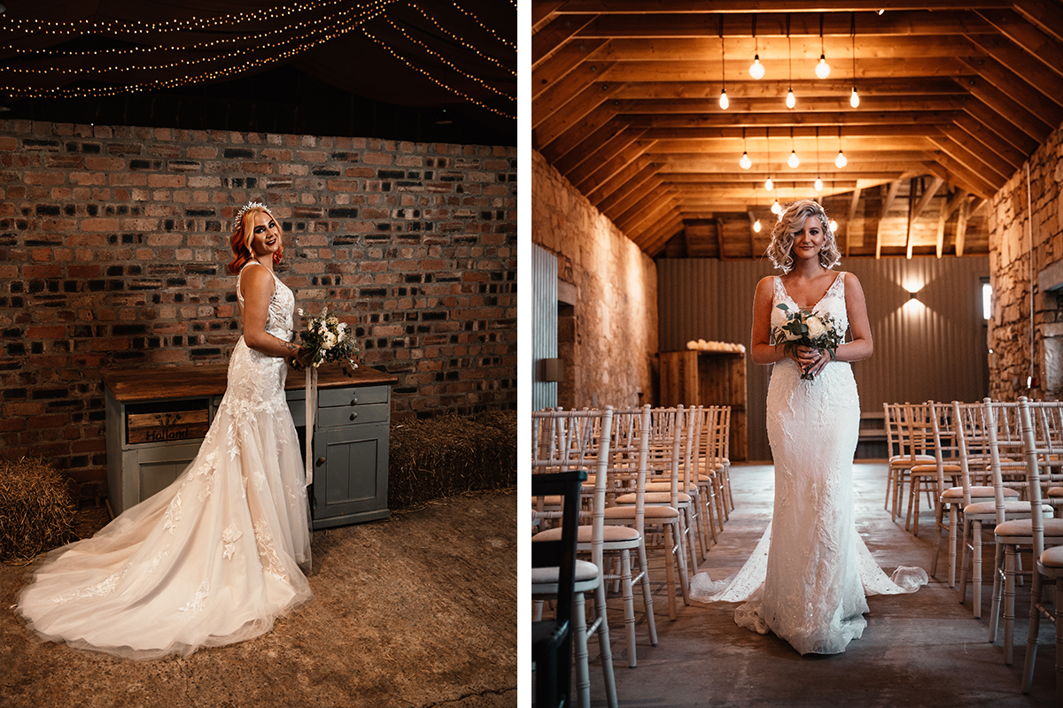 Amy King Bridal gowns inside The Den at Culross