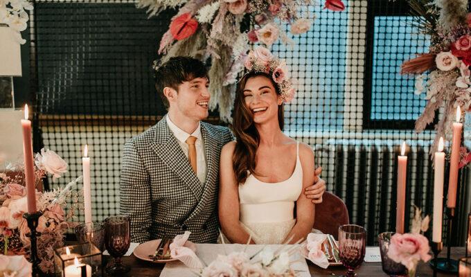 Anatomy Rooms Aberdeen wedding Emma Lawson Photography Ivory Grace Bridal wedding dress Kim Dalglish flowers