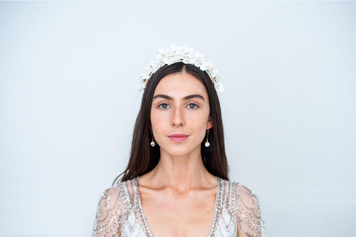 Heather flower crown by Eliza Loves