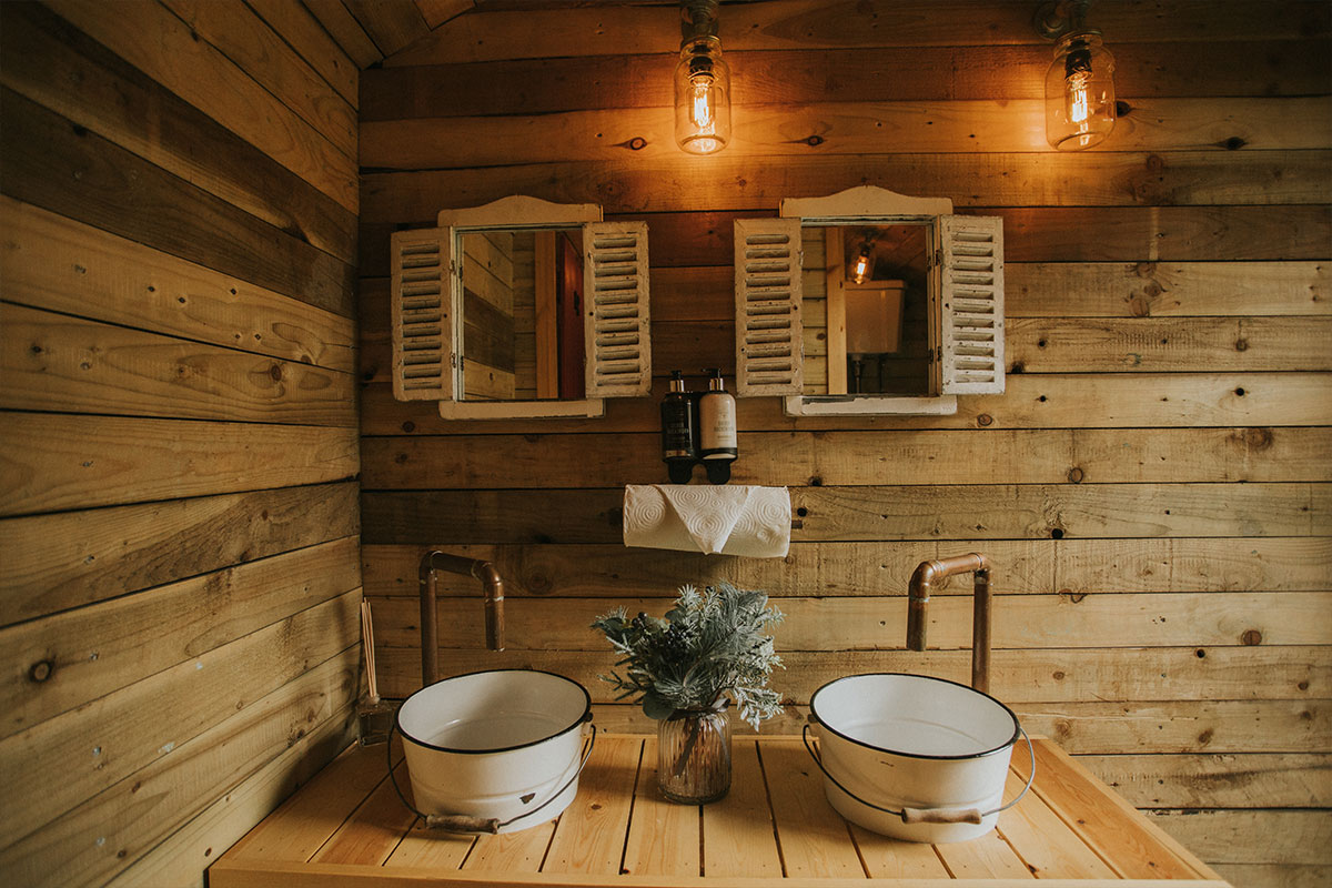 Nomadic Washrooms' hut interiors
