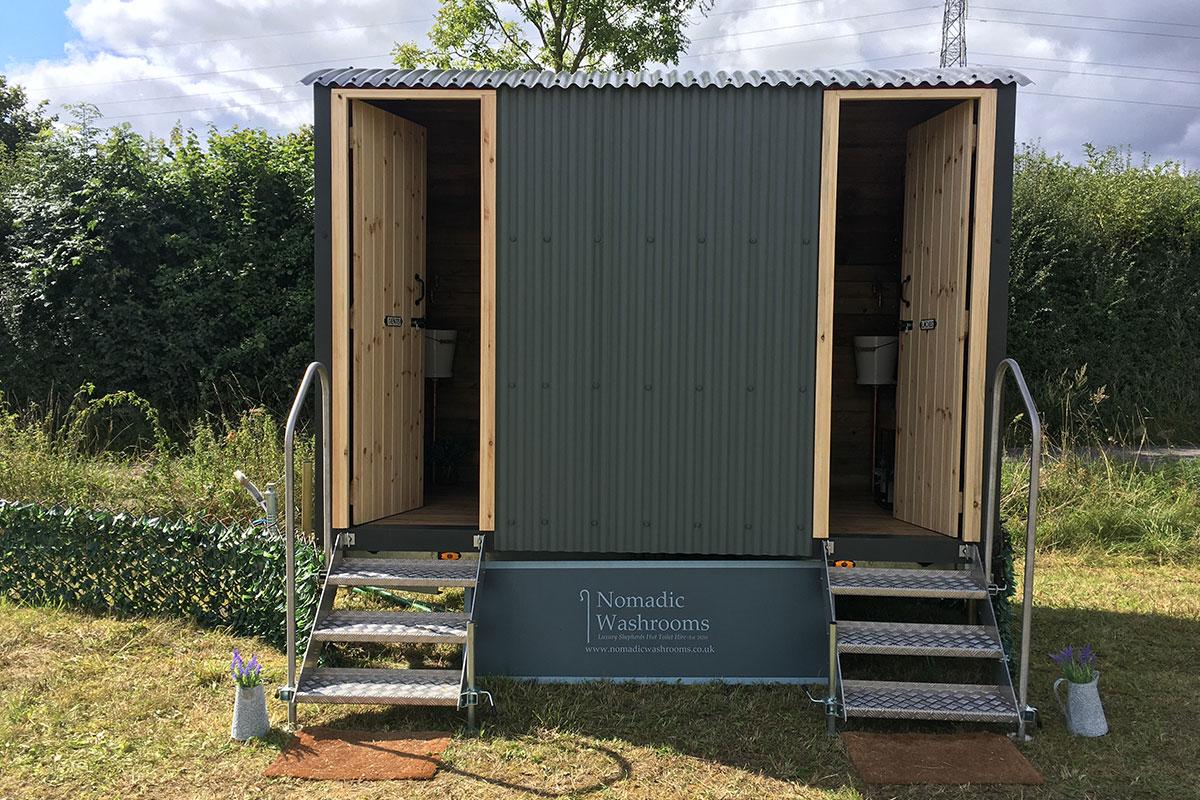 Shower unit by Nomadic Washrooms