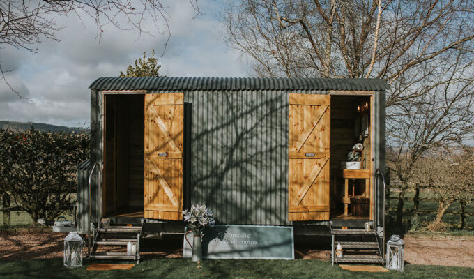 Toilet block by Nomadic Washrooms