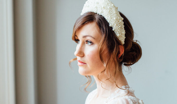 Lucille headband by Stephanie Gallen Millinery